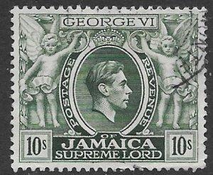 Jamaica 128a   1950   10 Sh   FVF Used