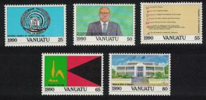 Vanuatu 10th Anniversary of Independence 5v SG#547-551 SC#524-528