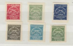 India Charkhari 1930/45 Collection Of 6 Imperf To 4A MLH J4592