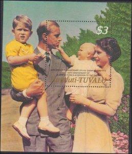 Tuvalu-Funafuti #66-71, Complete Set(6), 1987, Royalty, Never Hinged