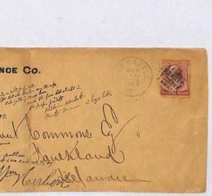 AX143 1887 USA ADVERT Newcastle *Glens Falls* NY Duplex 2c Rate Cover Faulkland