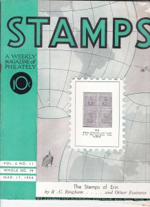 Stamps Weekly Magazine of Philately March 17, 1934 Stamp Collecting Magazine