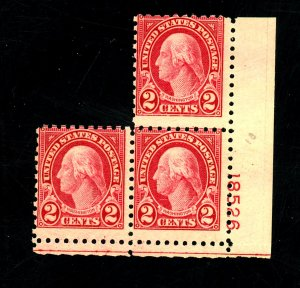 583 (3) MINT Ave-Fine OG NH Cat $19