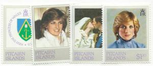 Pitcairn Islands #487-a-d Complete set  (MNH) CV$6.00