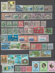 COLLECTION LOT # 38 GB COLONIES IN CARRIBEAN 51 STAMPS CLEARANCE