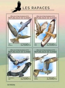 Z08 IMPERF GU190224a GUINEA (Guinee) 2019 Birds of prey MNH ** Postfrisch