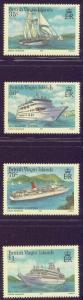 Virgin Isls. 524-27 MNH 1985 Cruise Ships