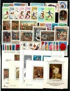 Romania Scott 2030 // 2197 Mint NH sets and S/S (Catalog Value $33.90)