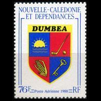 NEW CALEDONIA 1988 - Scott# C214 Dumbea Arms Set of 1 NH