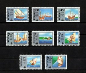 DOMINICA - 1991 - DISCOVERY VOYAGES - EXPLORERS & SHIPS - AMERICA - MINT NH SET!