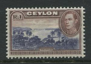Ceylon -Scott 287 - KGVI Definitive Issue - 1938 - MNH - Single 1r Stamp