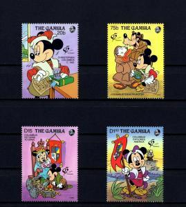 GAMBIA - 1992 - DISNEY - MICKEY - COLUMBUS - AMERICA - GRANADA - MINT - MNH SET!