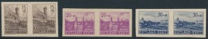 Stamp Germany Estland WWII War Occupation Estonia Imperf Selection Pairs MNG