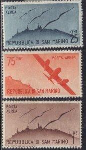 SAN MARINO SC #C41-43 **MH** 1946-47  SEE SCAN