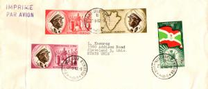 Ruanda Urundi 50c, 1F, 2F, and 3F Independence 1962 Burundi-Jour D'Emission A...