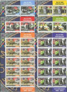 ISLE OF MAN  2013  CORONATION COMMEMORATIVES SHEET SET  MINT NEVER HINGED