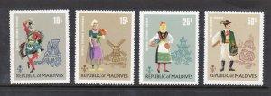 MALDIVE ISLANDS 383-6 MNH VF National Costumes