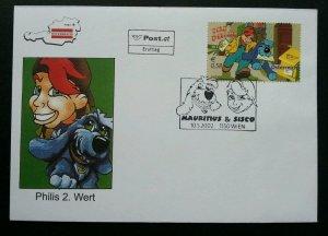 Austria 2002 Cartoon Animation Dog Postbox Mail Letter (FDC)