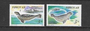 FAROE ISLANDS #239-40  MNH