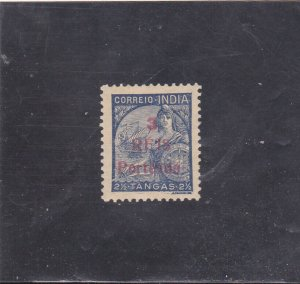 PORTUGUESE INDIA POSTAGE DUE SURCHARGED 3 r. s/ 2 1/2 T. (1943) MNH