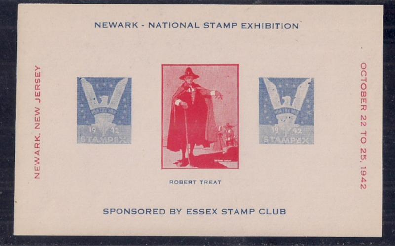 Souvenir Sheet for Newark NJ Essex  Stamp Club with 3c Win The War #905 design