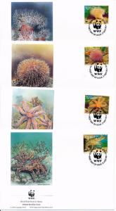 [53940] Alderney 1993 Marine life WWF Lobster Sea star  FDC 4 covers
