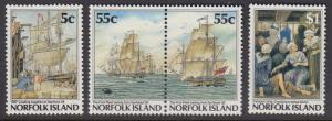 Norfolk Island 417-20 mnh