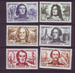 J24652 JLstamps 1959 france set mnh #b330-5 famous people