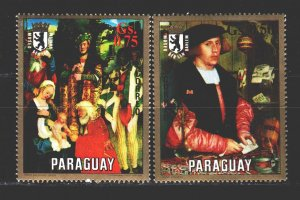Paraguay. 1971. 2245-46 from the series. Painting, paintings. MNH.
