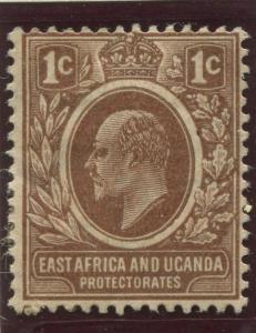 East Africa & Uganda - Scott 31- KEVII Definitive  -1908 - MH- Single 1c Stamp