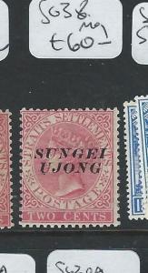 MALAYA SUNGEI UJONG (P0810B)  2C QV  SG 38  MOG