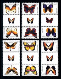 [95187] Netherlands Antilles 2006 Insects Butterflies Gutter Pairs MNH