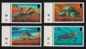 Ascension Green Turtles 4v Margins 1994 MNH SG#624-627