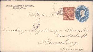 El Paso County El Paso to Germany ( Postal History ), 1892