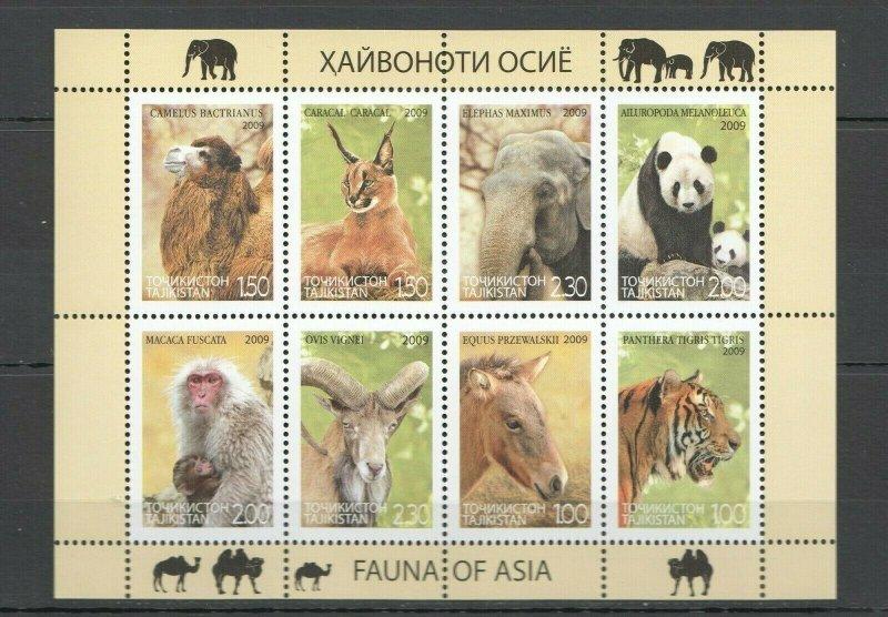 EC187 2009 TAJIKISTAN WWF FAUNA OF ASIA ANIMALS 1KB MNH