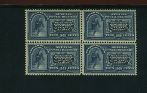 Scott E5 Special Delivery Mint Block of 4 Stamps (Stock E5-B1)