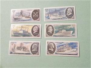Russia - 4799-04, MNH Set. Research Ships and Portraits. SCV - $1.75