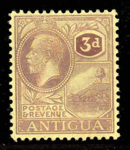 Antigua 1921 KGV 3d purple/pale yellow wmk MSCA SG 74 mint