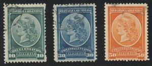 Argentina - 1901 - SC O34-36 - Used