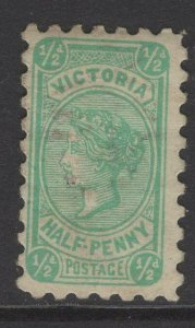 VICTORIA SG384c 1905 ½d BLUE-GREEN DIE III USED