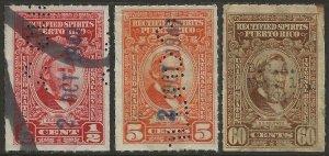 Puerto Rico   Porto Rico 1942-57 Rectified Spirits Revenue #RE33/RE46 Fine Used