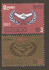 Ceylon #386-7 Mint