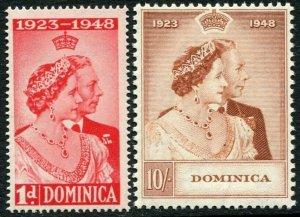 DOMINICA-1948 Royal Silver Wedding Set Sg 112-113 UNMOUNTED MINT V33385