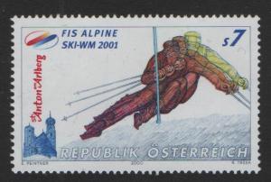 Austria   #1834   MNH  2000  Worldchampiomship   skiing