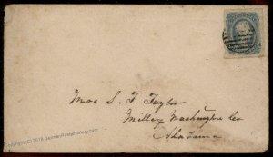 CSA #12 Civil War Confederate Cover Millery Alabama 92875