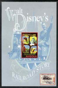 Angola 1999 Walt Disney's Railroad Story #1 imperf s/shee...