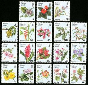 Solomon Islands Stamps # 580-96A XF OG NH Catalog Value $24.55