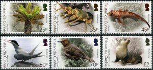 Tristan da Cunha. 2016. Biodiversity (I) (MNH OG) Set of 6 stamps