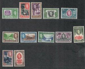 British Honduras Sc#115-126 M/NH/VF, Cv. $180