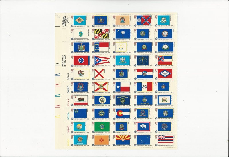 American Bicentennial Flags  Scott #1682a